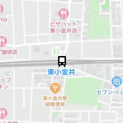 東小金井駅の周辺地図