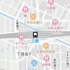 三鷹駅の周辺地図