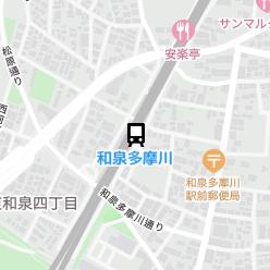和泉多摩川駅の周辺地図