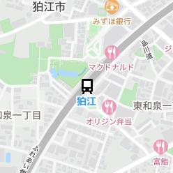 狛江駅の周辺地図