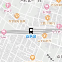 西荻窪駅の周辺地図