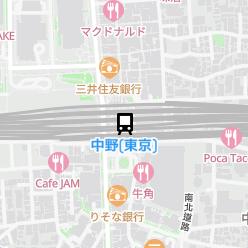 中野(東京)駅の周辺地図