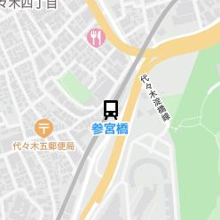 参宮橋駅の周辺地図