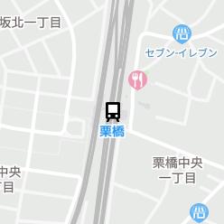 栗橋駅の周辺地図