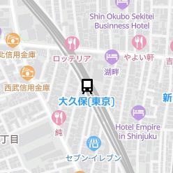 大久保(東京)駅の周辺地図