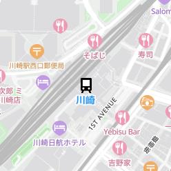 川崎駅の周辺地図