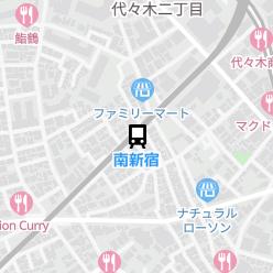 南新宿駅の周辺地図