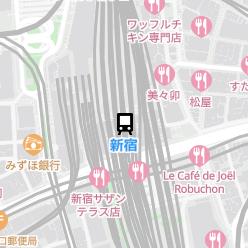 新宿駅の周辺地図