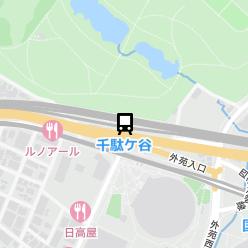 千駄ケ谷駅の周辺地図