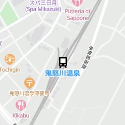 鬼怒川温泉駅の周辺地図