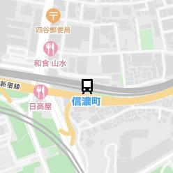 信濃町駅の周辺地図