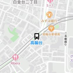 高輪台駅の周辺地図