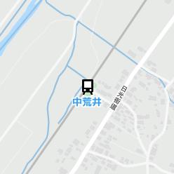 中荒井駅の周辺地図
