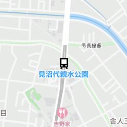 見沼代親水公園駅の周辺地図