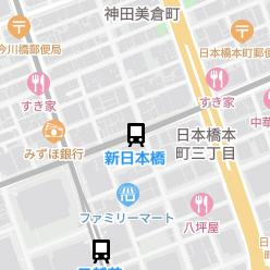 新日本橋駅の周辺地図
