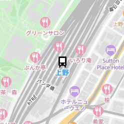 上野駅の周辺地図