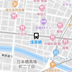 浅草橋駅の周辺地図