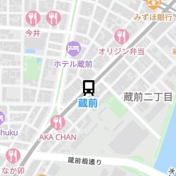 蔵前駅の周辺地図