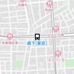 森下(東京)駅の周辺地図