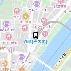 浅草(その他)駅の周辺地図
