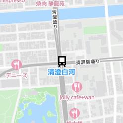 清澄白河駅の周辺地図