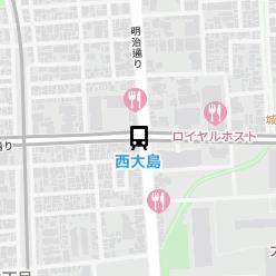 西大島駅の周辺地図