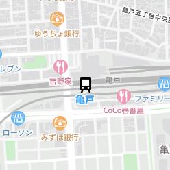 亀戸駅の周辺地図