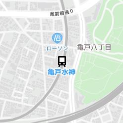 亀戸水神駅の周辺地図