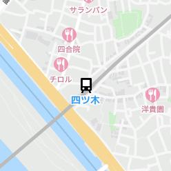 四ツ木駅の周辺地図