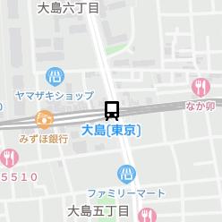 大島(東京)駅の周辺地図