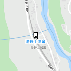 湯野上温泉駅の周辺地図