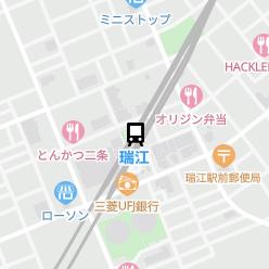 瑞江駅の周辺地図