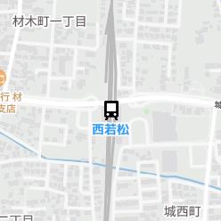 西若松駅の周辺地図