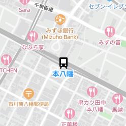 本八幡駅の周辺地図