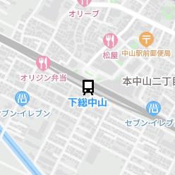 下総中山駅の周辺地図