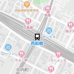 西船橋駅の周辺地図