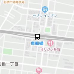 東船橋駅の周辺地図