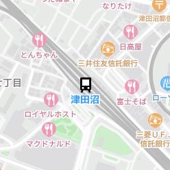 津田沼駅の周辺地図