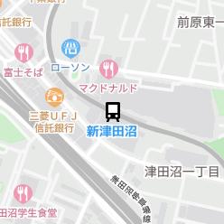 新津田沼駅の周辺地図