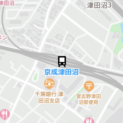 京成津田沼駅の周辺地図