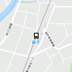 益子駅の周辺地図