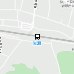 岩瀬駅の周辺地図