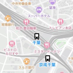 千葉駅の周辺地図