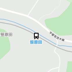 笹原田駅の周辺地図