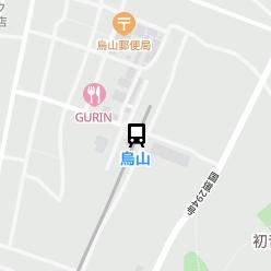 烏山駅の周辺地図