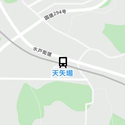 天矢場駅の周辺地図