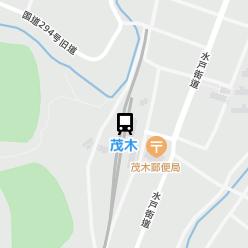 茂木駅の周辺地図