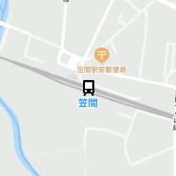 笠間駅の周辺地図