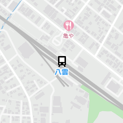 八雲駅の周辺地図