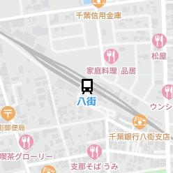 八街駅の周辺地図